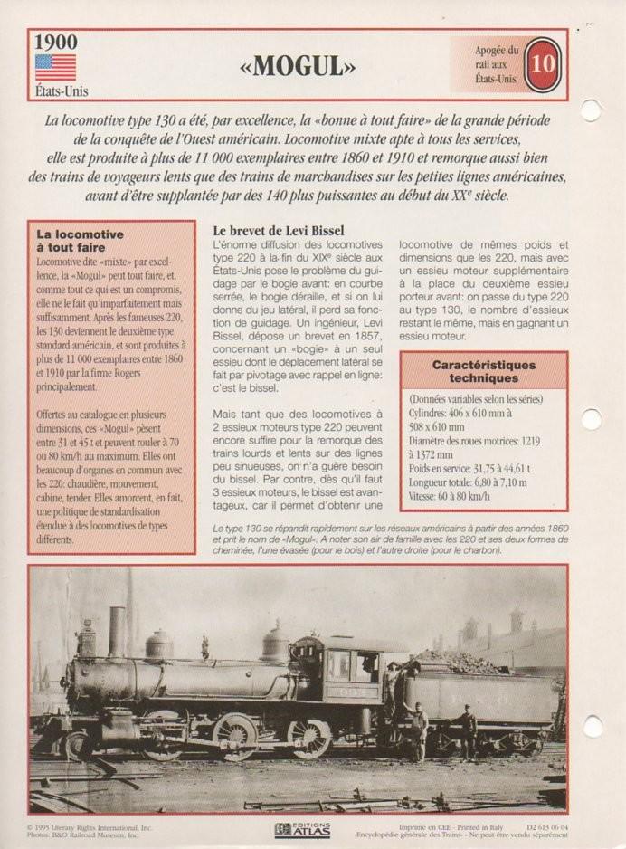 [Fiches Atlas] Trains de légende, éditions Atlas (2e partie) T24010