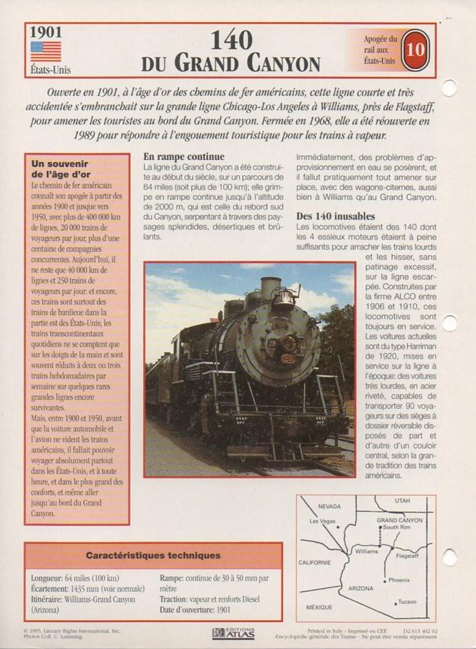 [Fiches Atlas] Trains de légende, éditions Atlas (2e partie) T24210