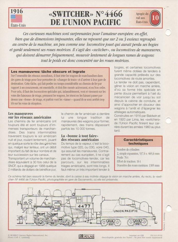 [Fiches Atlas] Trains de légende, éditions Atlas (2e partie) T24610