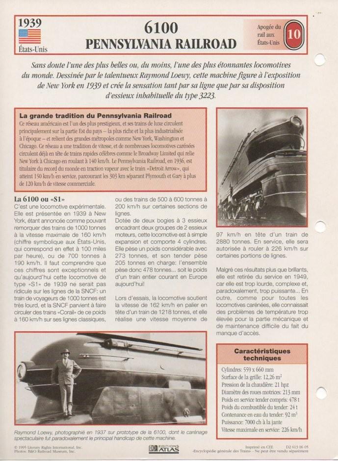 [Fiches Atlas] Trains de légende, éditions Atlas (2e partie) T25310
