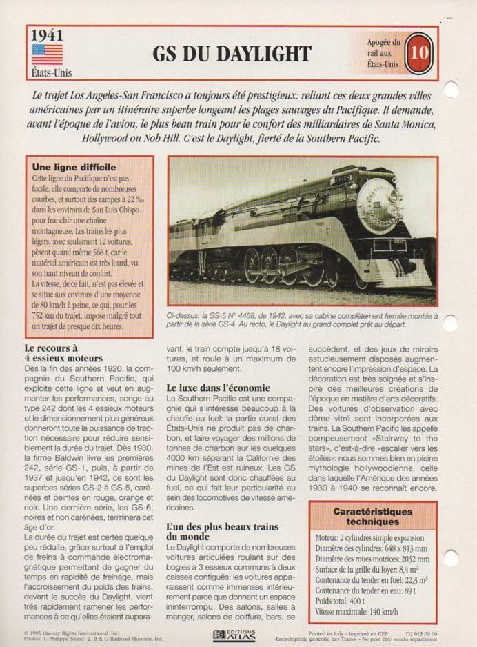 [Fiches Atlas] Trains de légende, éditions Atlas (2e partie) T25510