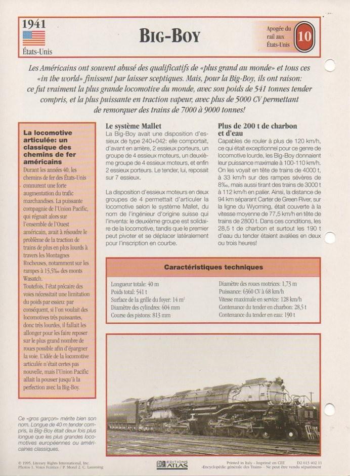 [Fiches Atlas] Trains de légende, éditions Atlas (2e partie) T25710