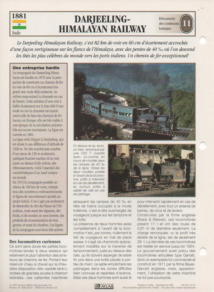 [Fiches Atlas] Trains de légende, éditions Atlas (2e partie) T26410