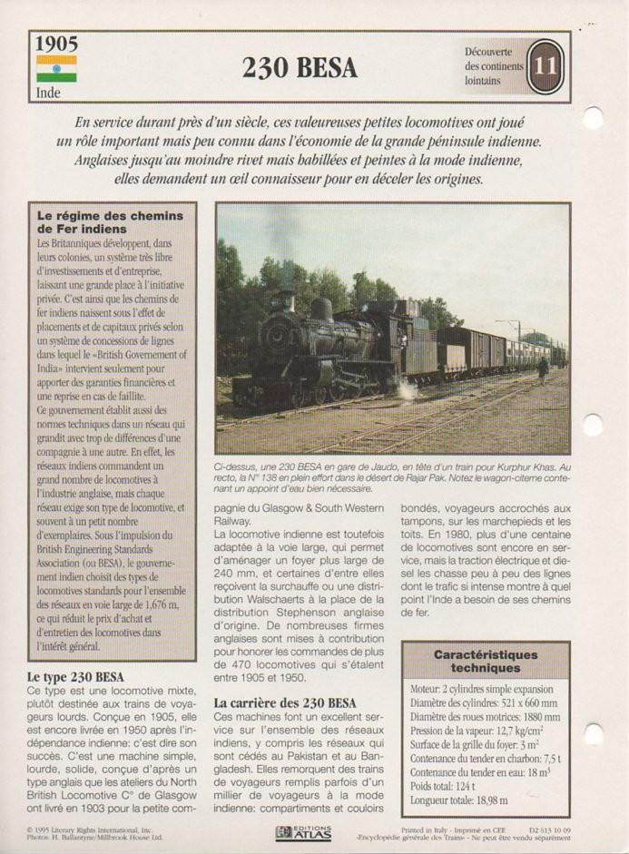 [Fiches Atlas] Trains de légende, éditions Atlas (2e partie) T26810