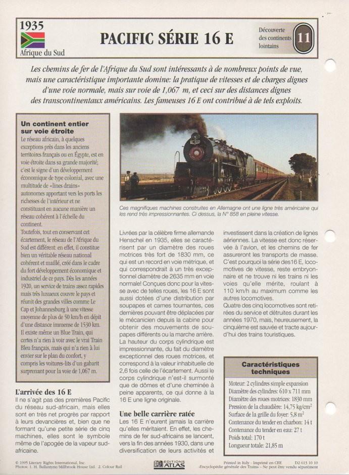 [Fiches Atlas] Trains de légende, éditions Atlas (2e partie) T27210