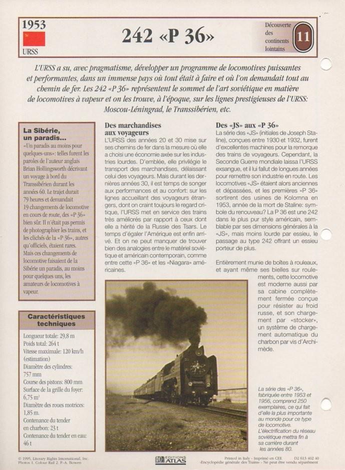 [Fiches Atlas] Trains de légende, éditions Atlas (2e partie) T27910
