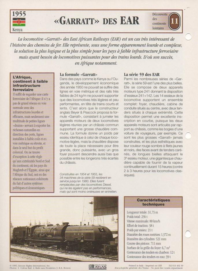 [Fiches Atlas] Trains de légende, éditions Atlas (2e partie) T28110