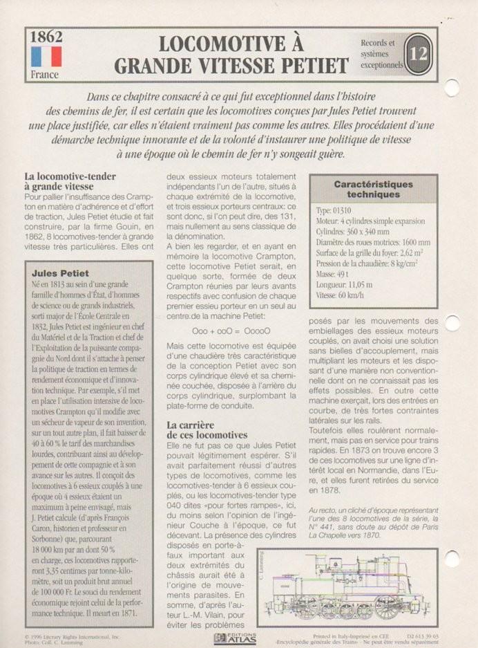 [Fiches Atlas] Trains de légende, éditions Atlas (2e partie) T28710