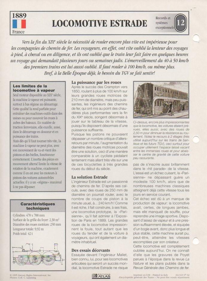 [Fiches Atlas] Trains de légende, éditions Atlas (2e partie) T28810