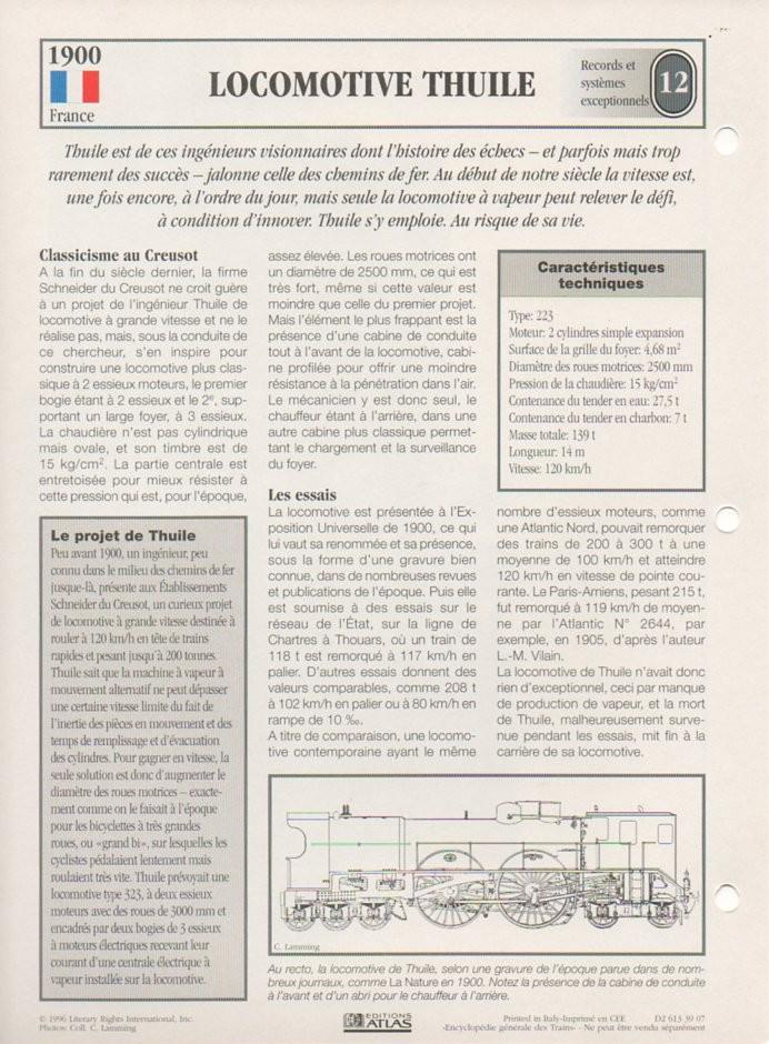 [Fiches Atlas] Trains de légende, éditions Atlas (2e partie) T29010