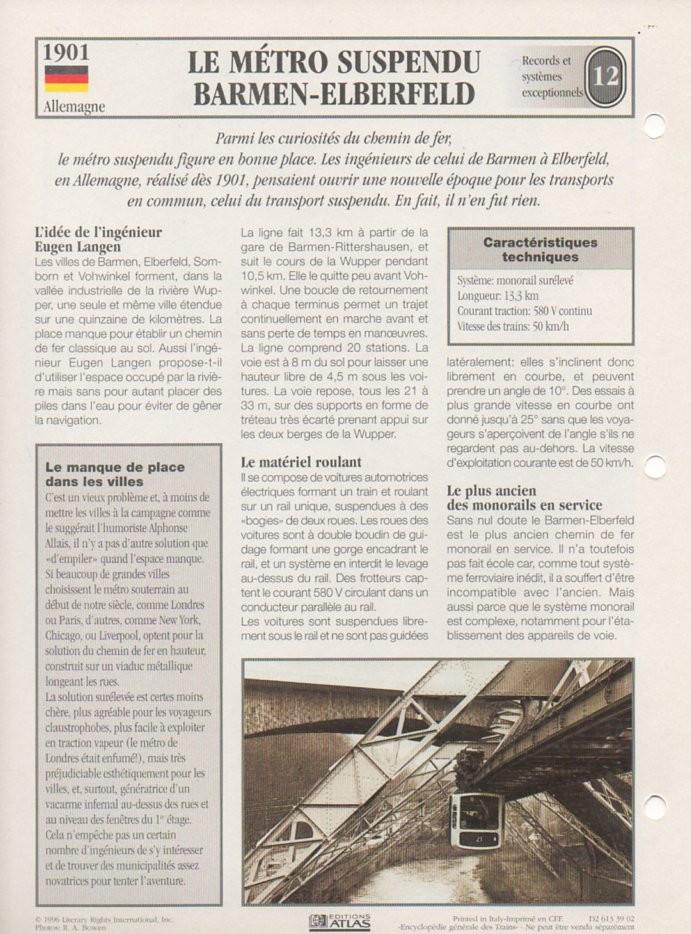 [Fiches Atlas] Trains de légende, éditions Atlas (2e partie) T29210