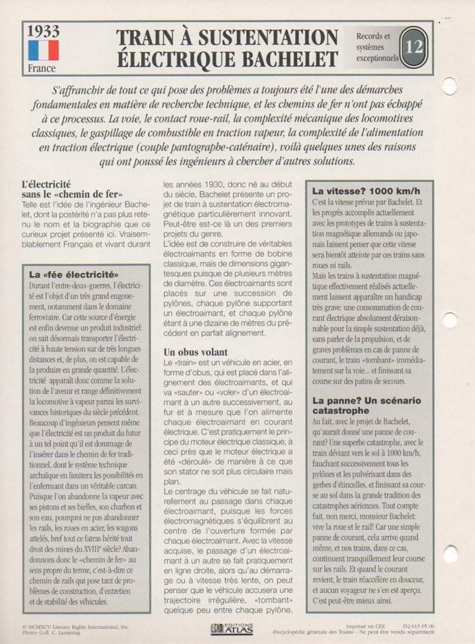 [Fiches Atlas] Trains de légende, éditions Atlas (2e partie) T29410