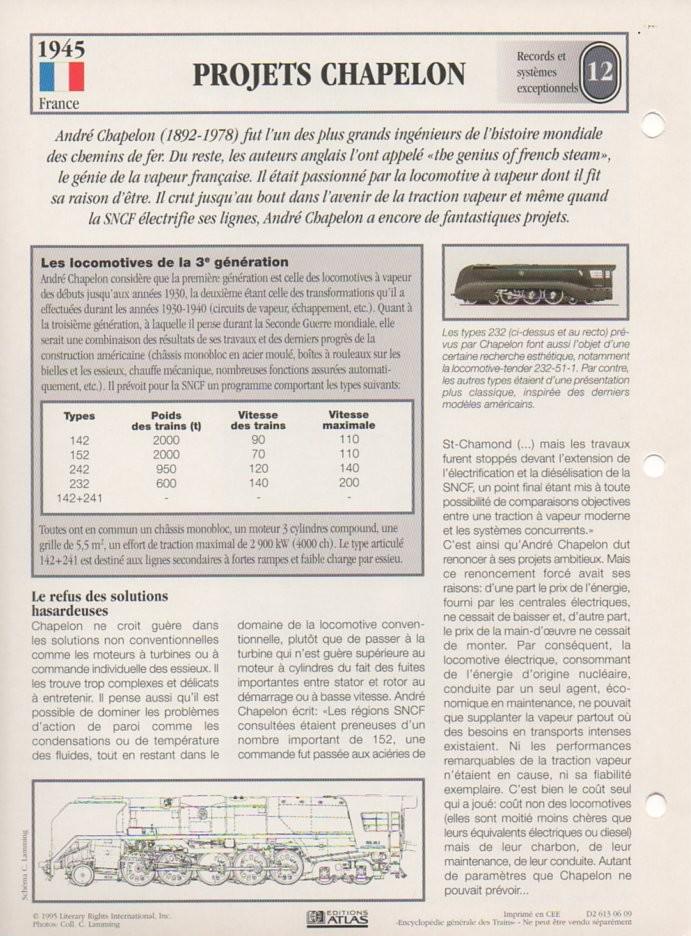 [Fiches Atlas] Trains de légende, éditions Atlas (2e partie) T29610