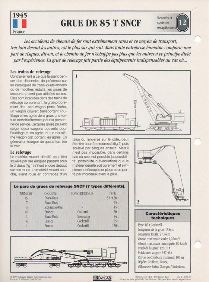 [Fiches Atlas] Trains de légende, éditions Atlas (2e partie) T29810