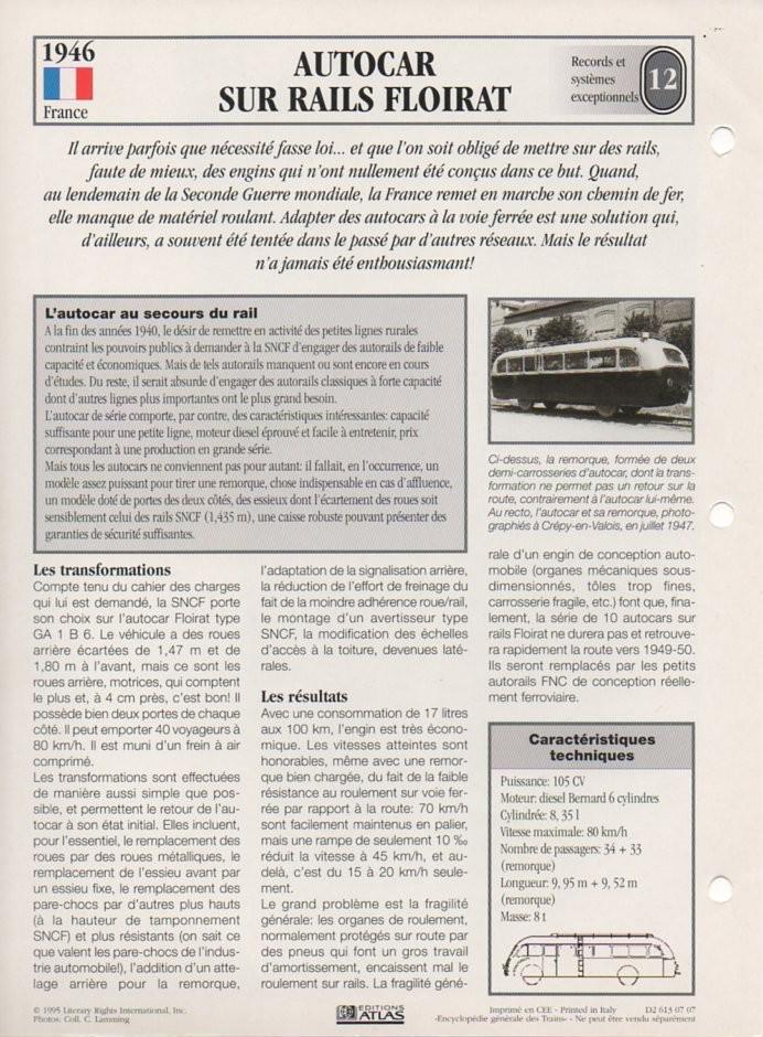 [Fiches Atlas] Trains de légende, éditions Atlas (2e partie) T30010