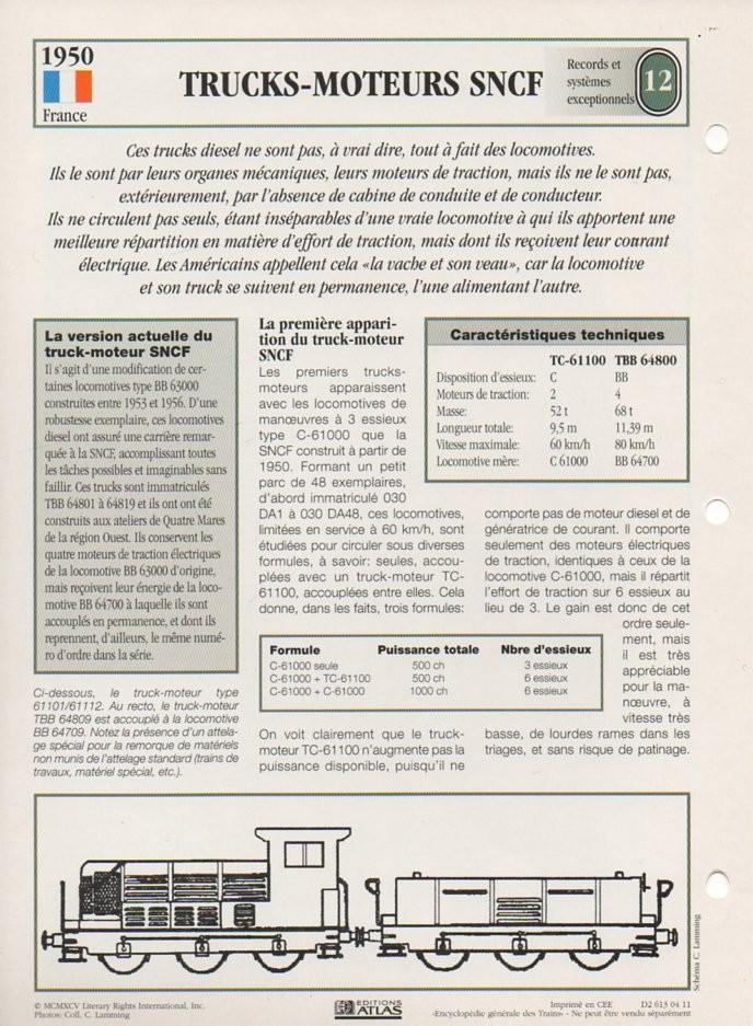 [Fiches Atlas] Trains de légende, éditions Atlas (2e partie) T30210