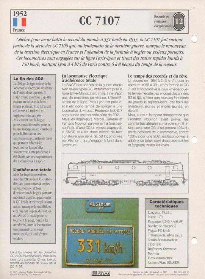 [Fiches Atlas] Trains de légende, éditions Atlas (2e partie) T30410