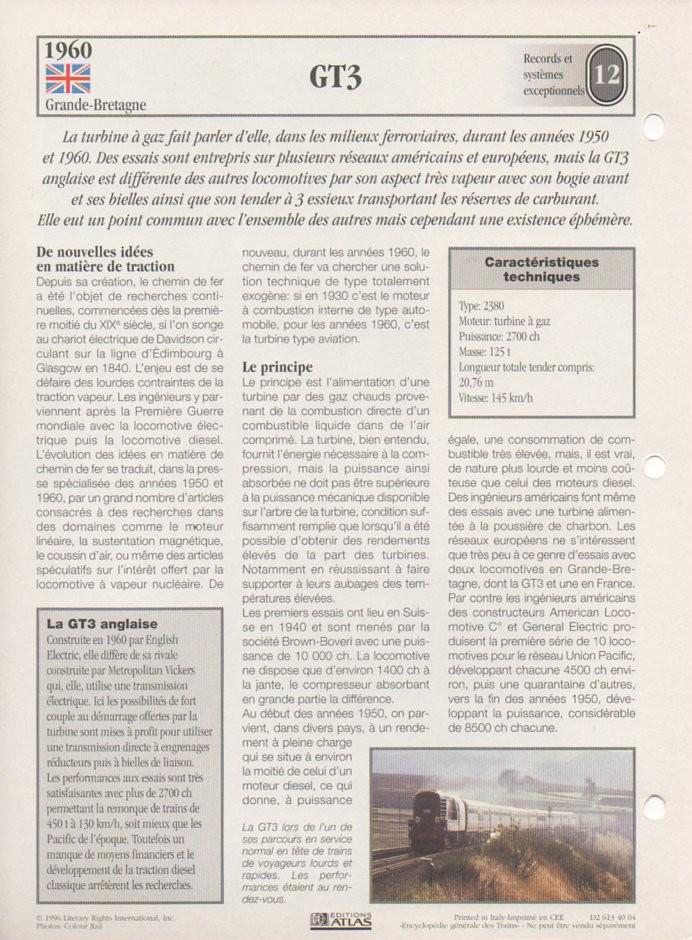 [Fiches Atlas] Trains de légende, éditions Atlas (2e partie) T30610