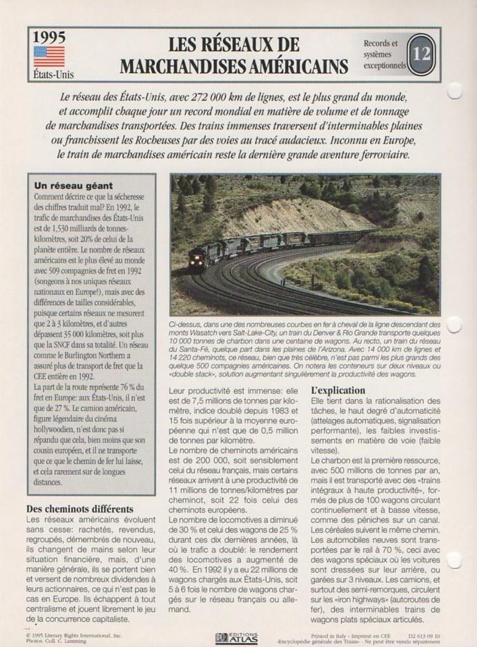 [Fiches Atlas] Trains de légende, éditions Atlas (2e partie) T31010