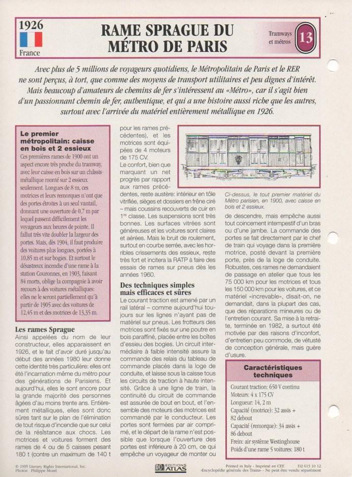 [Fiches Atlas] Trains de légende, éditions Atlas (2e partie) T31710