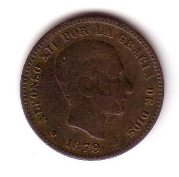 5 Cts. Pts de Alfonso XII (Barcelona, 1879 d.C) Mr03-014