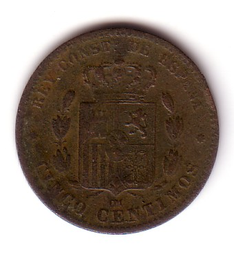 5 Cts. Pts de Alfonso XII (Barcelona, 1879 d.C) Mr03-015