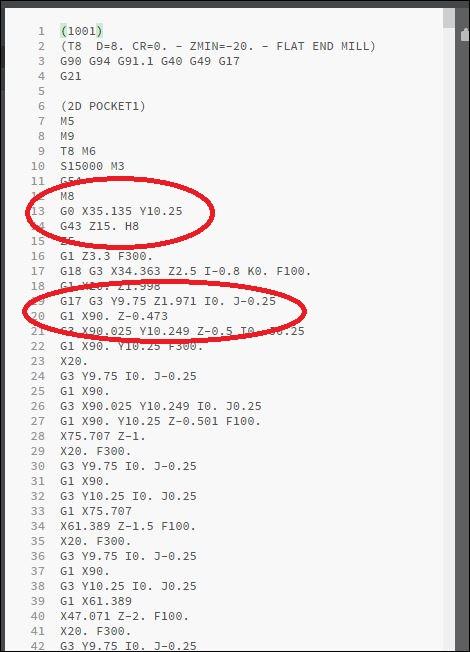 probleme de comprehension avec le GCODE Captur16