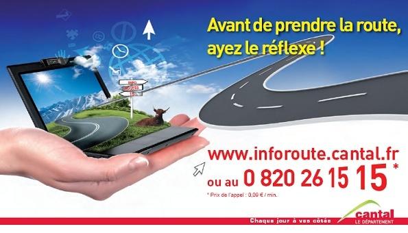 Avant de prendre la route, consultez InfoRoute.cantal.fr ! Route10