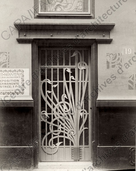 La maison de l'Art Nouveau - Maison Bing - Paris 1895 - 1905 Frapn011
