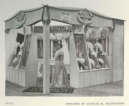 Charles Rennie Mackintosh - stall design for the Glasgow International Exhibition Paaf1910