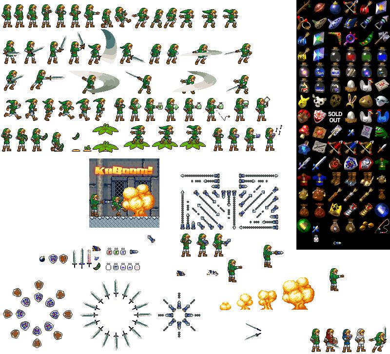 Sprites e tiles de Zelda  Link_s11