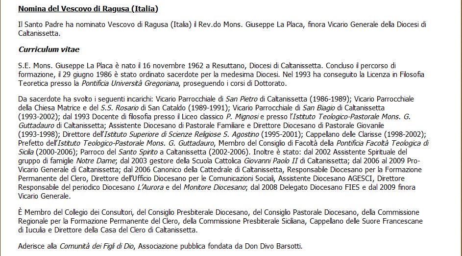 Mons. Giuseppe La Placa, la gioia e le prime parole del nuovo vescovo della Diocesi di Ragusa. Vescov10