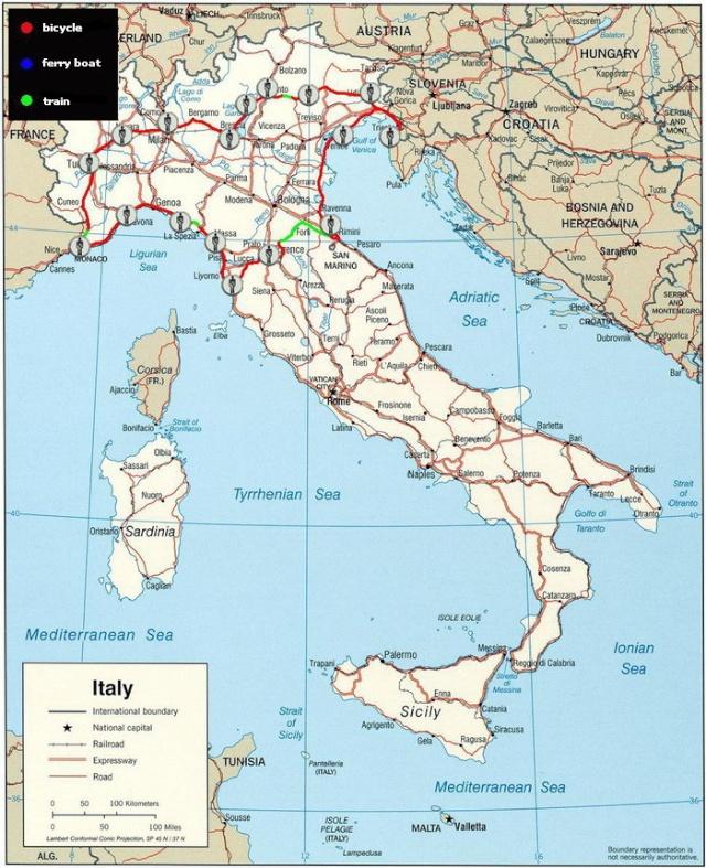 Partireper.it: Giro d'Italia in Bicicletta Itiner12