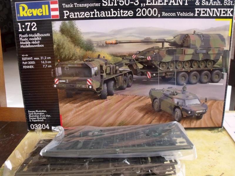 """REVELL 1/72 SLT50-3 """" ELEFANT """" ET Sa aNH.52 T , avec le Panzerhaubitze 2000 et le Fennek dans la même boite 001dsc10"""