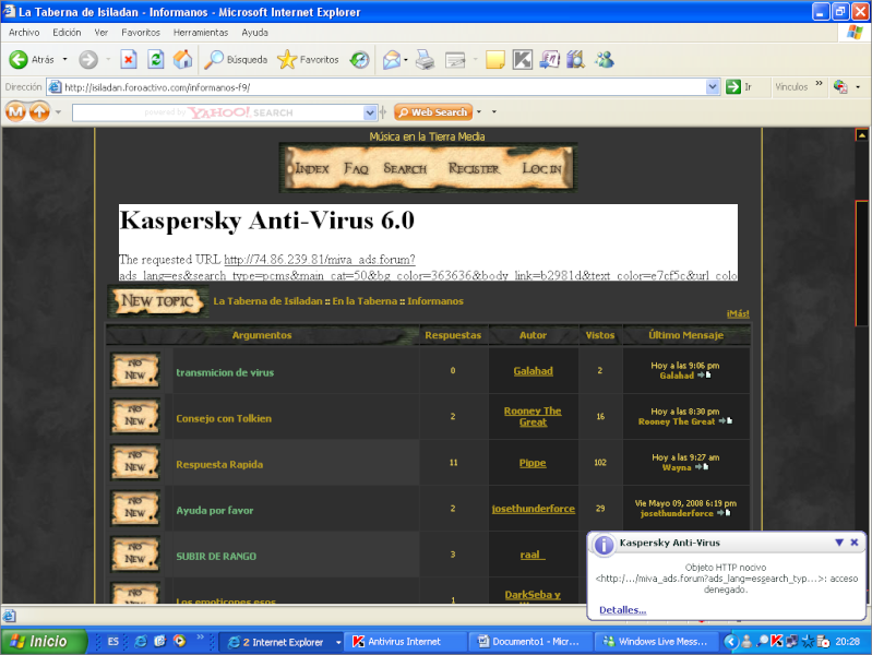 transmicion de virus Proble10
