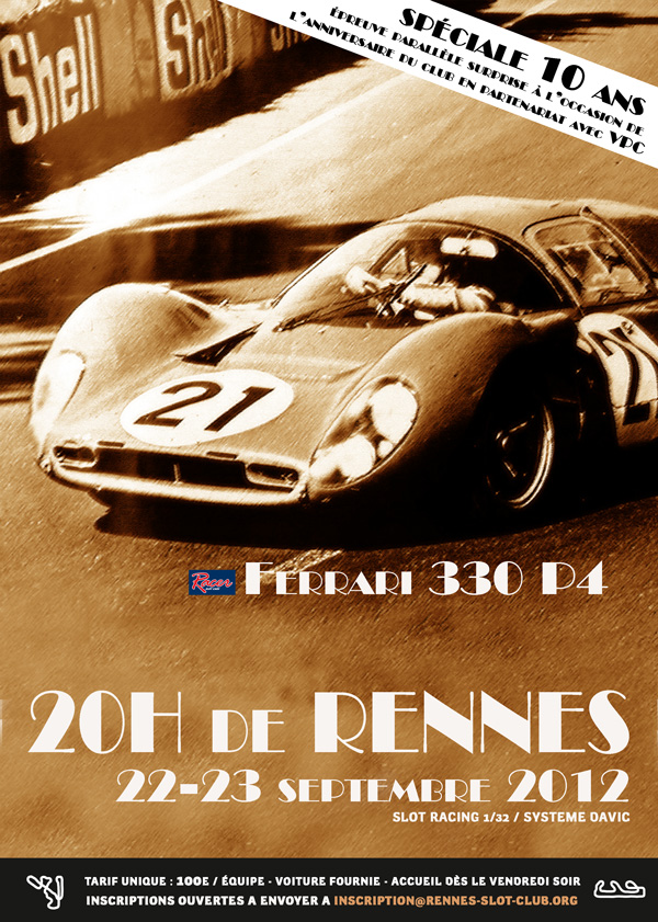 20H de Rennes 2012 : ouverture des inscriptions Affich12