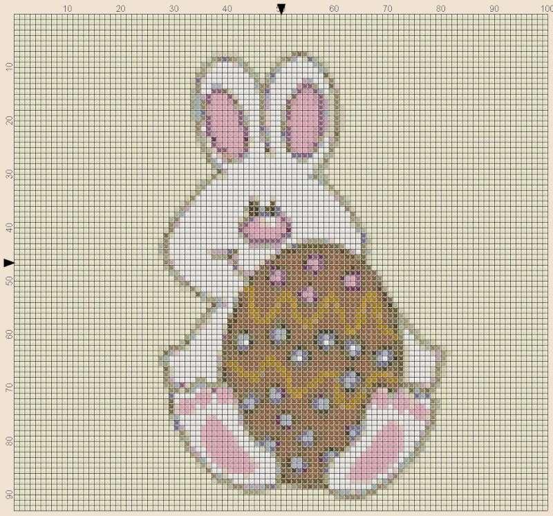cercasi schemi pasquali punto croce Pasqua10