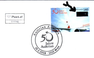 AUA: Briefmarke zum 50er und Showdown bei der Hauptversammlung Austri10