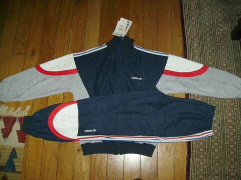 Veste vintage Adidas, modèle Laser, Équipe de France 1986