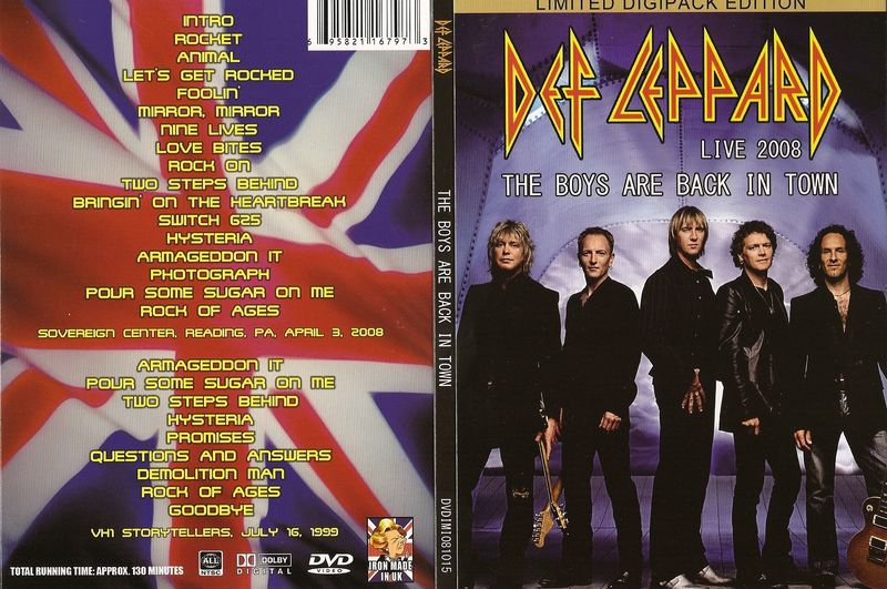 """Def Leppard: Live 2008 """"The boys are back in town"""" DVD Leppar10"""