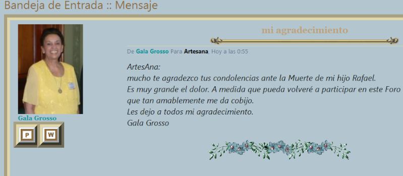 Fallecimiento del hijo de Gala Grosso Gala10