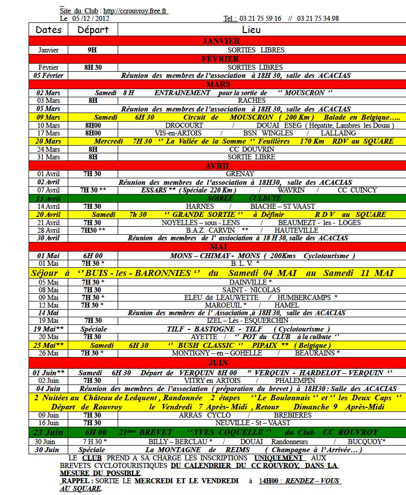 calendrier des sorties 2013 Calend12