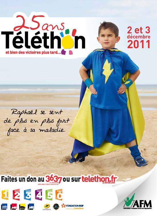 25ème anniversaire du Téléthon Affich10
