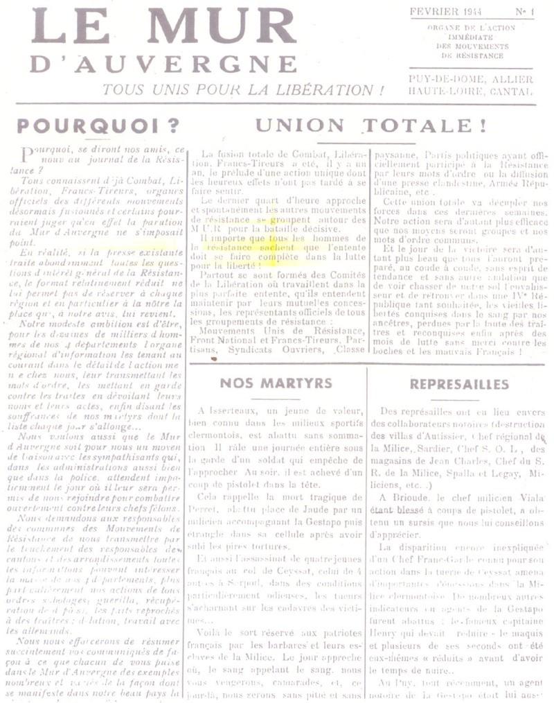 Le MONT-MOUCHET, haut lieu de la Résistance Le_mur12