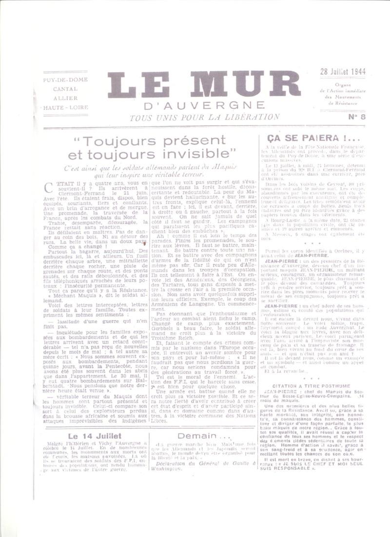 Le MONT-MOUCHET, haut lieu de la Résistance Le_mur26