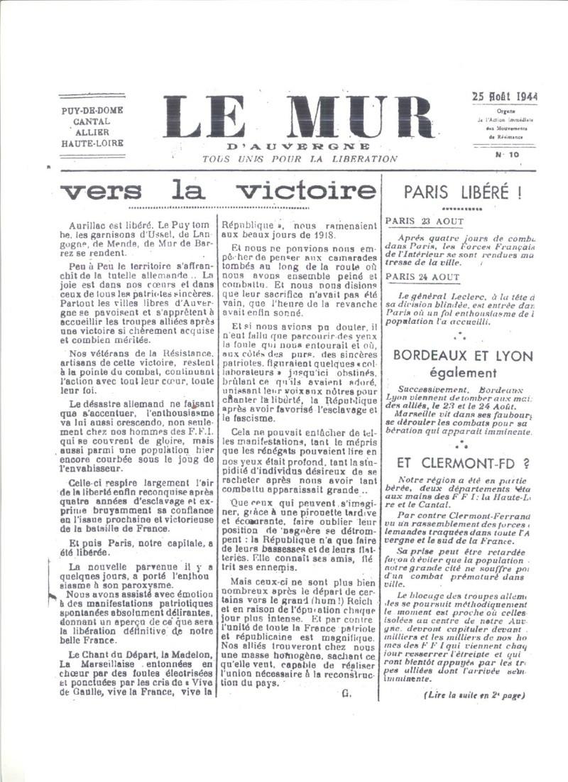 Le MONT-MOUCHET, haut lieu de la Résistance Le_mur31