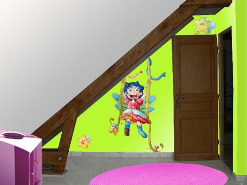 chambre en sous pente Enfant10