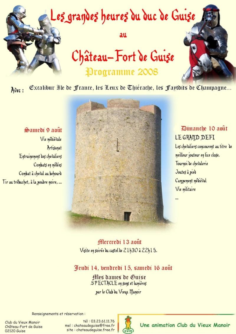 Les Grandes Heures des Ducs de Guise - 9 & 10 août 2008 Affich10