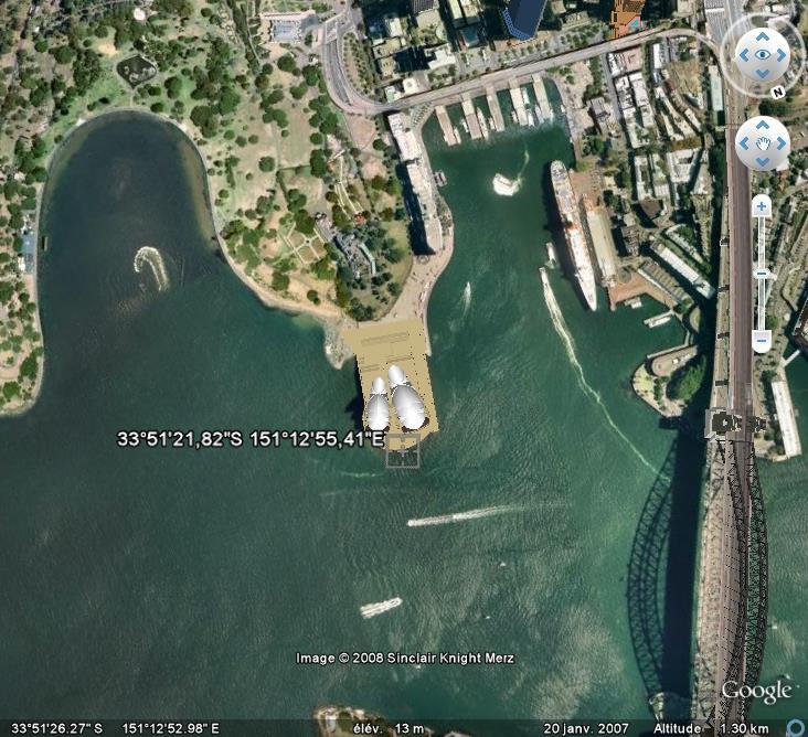 Google Earth en version 3D : les êtres humains modélisés eux-aussi Sydney12