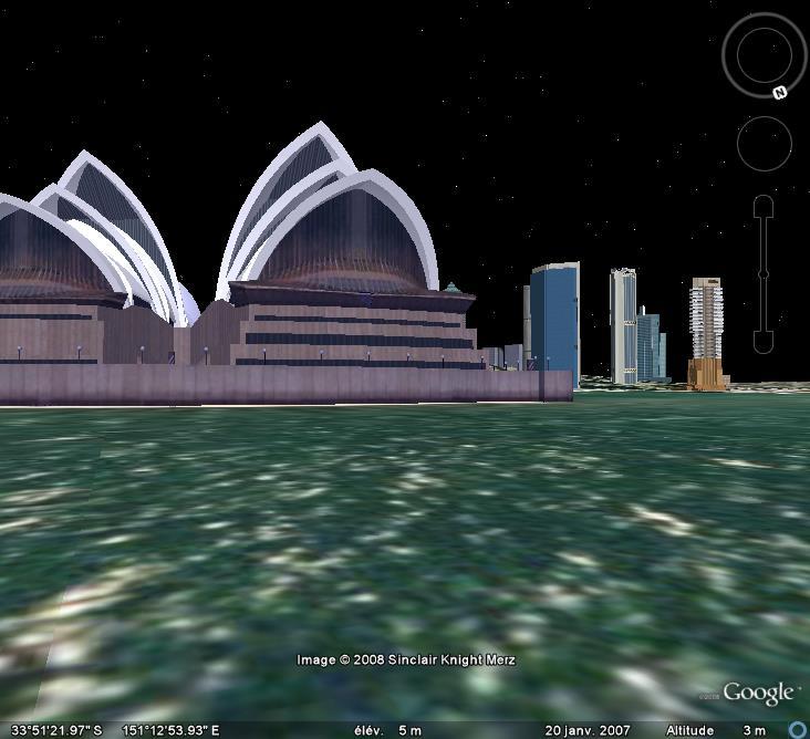 Google Earth en version 3D : les êtres humains modélisés eux-aussi Sydney13